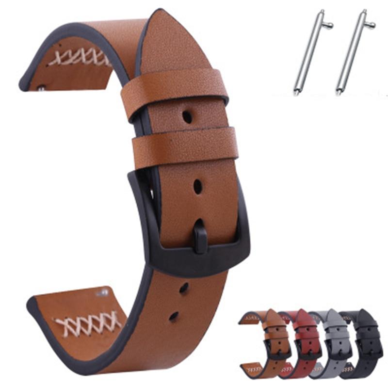 Watch accessories for Samsung galaxy watch moto smart watch leather cowhide switch ear men's outdoor sports watch strap
