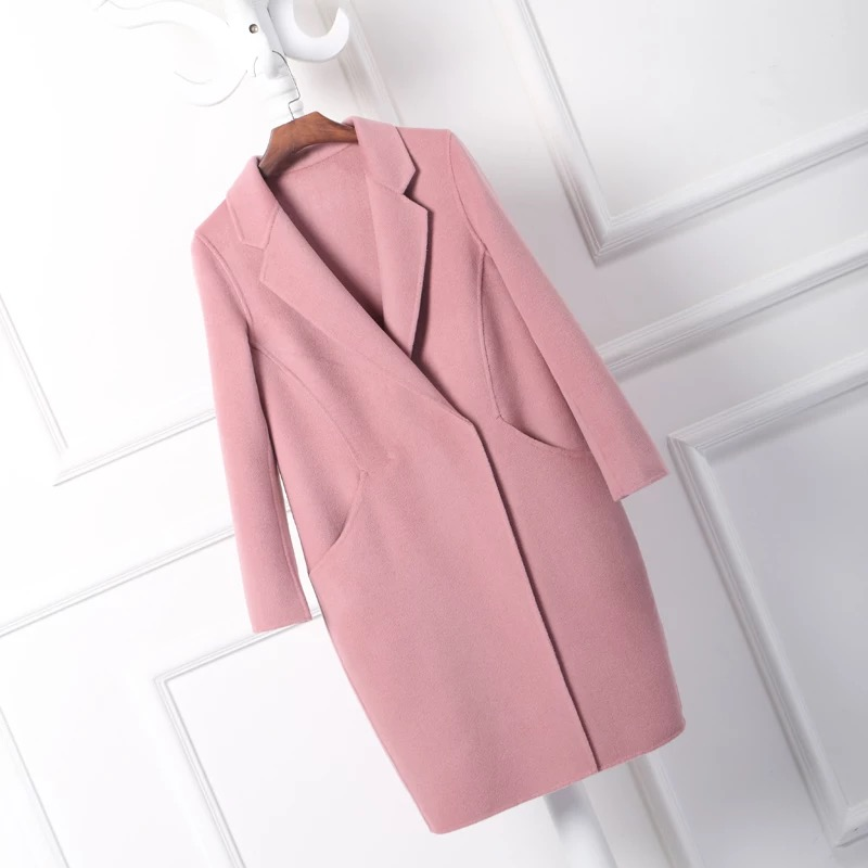 Pink Cashmere Coat | Down Coat