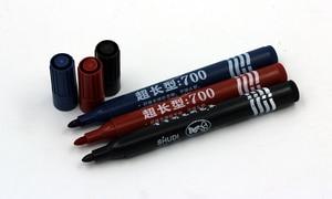 Image 2 - 100 개/몫 블랙 영구 마커 펜 빠른 건조 빠른 드라이 라운드 발가락 블랙 영구 알코올 마커 펜 직물에 대 한