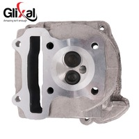 GY6 100cc Chinese Scooter Engine 50mm Big Bore Cylinder Head Assy 69mm Valves For 4T 139QMB