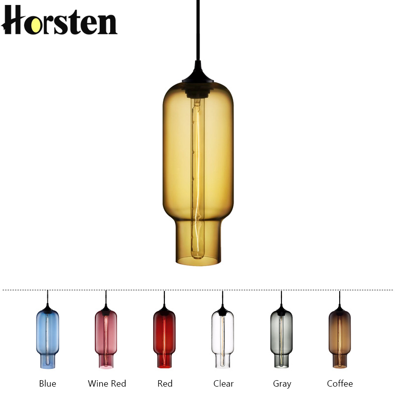 Loft Vintage 6 Color Glass Ball LED Pendant Lights Lamp Modern E27 Hanging Light for Restaurant Kitchen Dining Room Cafe Bar 110v 240v g4 led copper glass pendant lights lamps lighting 1 light d30cm for dining room kitchen cafe bar led hanging lights