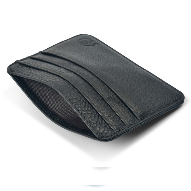 New Arrival Mini Wallets 12 Colours Ultra-thin Card Holder Mens Business Small Genuine Leather Purse Leather Card Case 6 Slots 5
