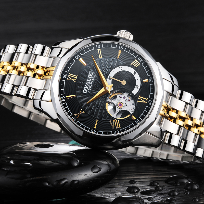 2018 OYALIE Automatic Mechanical Watches Switzerland Men Watch Top Brand Luxury Skeleton Sport Wrist watch Relogio Masculino winner top brand luxury men s wrist watch men military sport clock male skeleton automatic mechanical watches relogio masculino