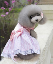 FG10 free shipping Dog Dress Summer Pet lace Dress For Dogs Pet Clothes new arrival