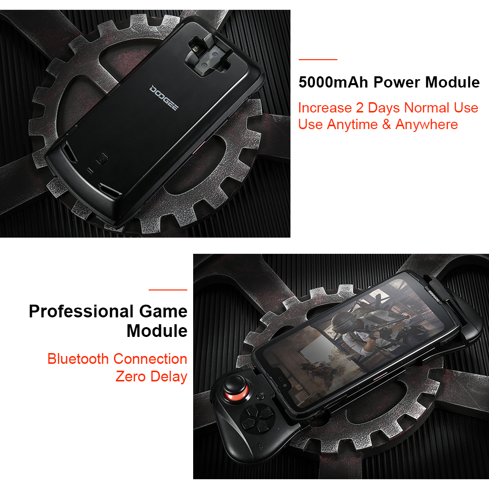 IP68/IP69K DOOGEE S90 téléphone Mobile robuste modulaire 6.18 pouces affichage 5050mAh Helio P60 Octa Core 6GB 128GB Android 8.1 16.0M Cam - 4