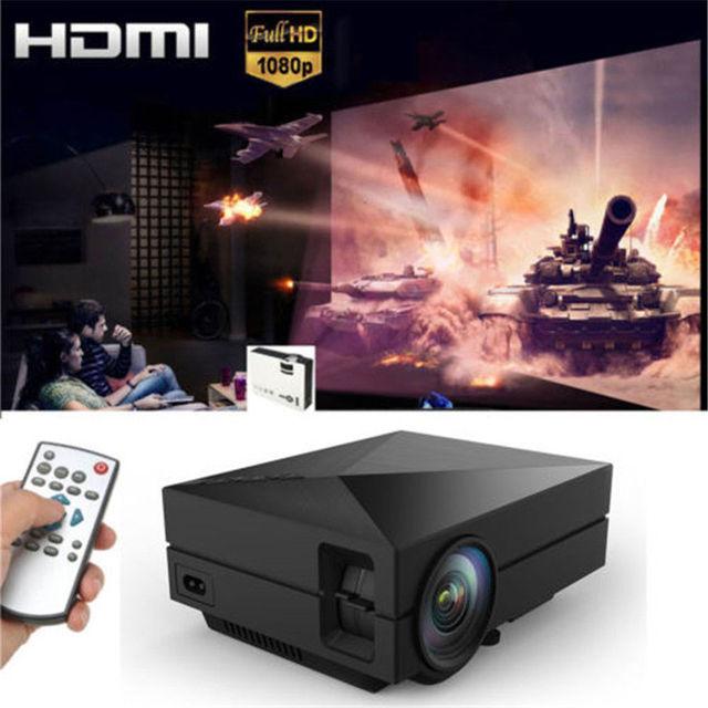 Cinema Home Theater Portátil Mini LED Projetor LCD 1080 P HD HDMI AV VGA USB SD
