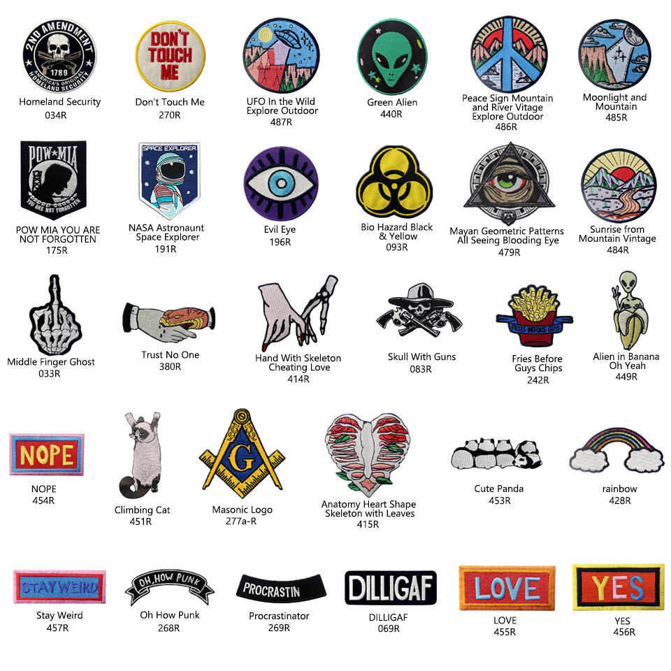 Embird patch Geborduurde patches set retro Brieven en Leuke Dier ceo-vriendelijke 3D patches tumblr ijzer op patch