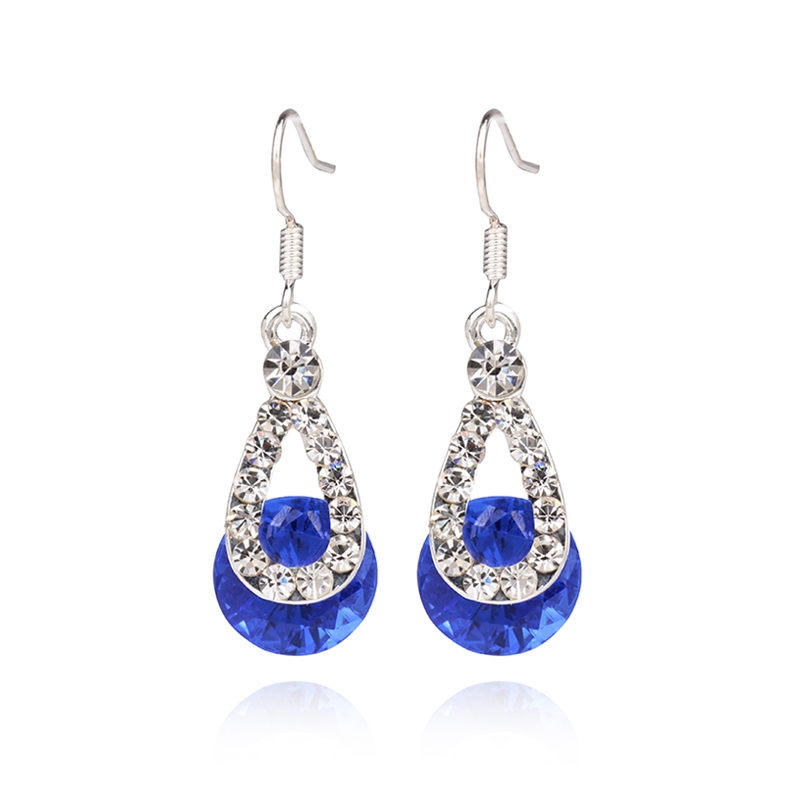 Buy Cheap F&u 2015 New Luxury 4 Colors Droplets Stud Earrings With Zircon Stone Women Birthday Gift Bijouterie!#436 Vivid And Great In Style