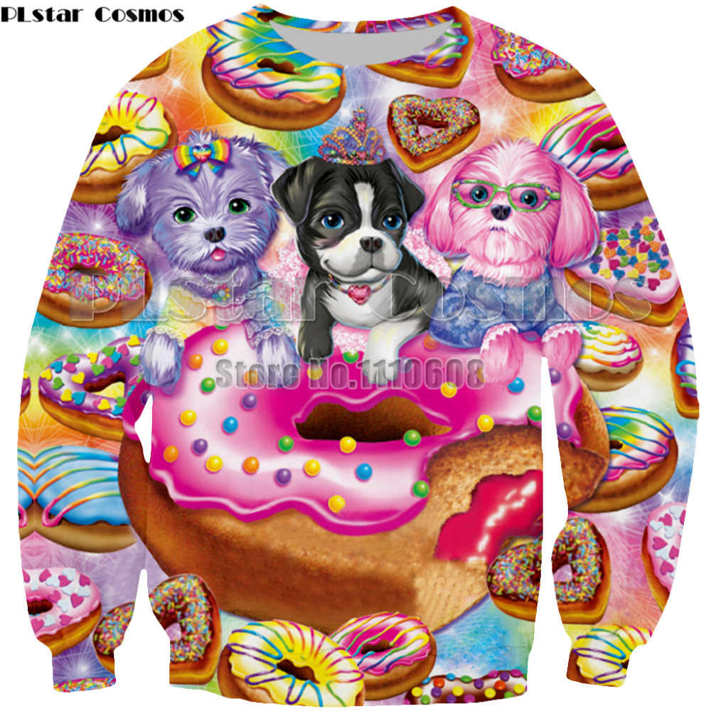 PLstar Космос новые Для мужчин/Для женщин 3D принтом Rainbow девочка Лиза Frank спортивная одежда пуловер с длинными рукавами толстовки Костюмы 7XL