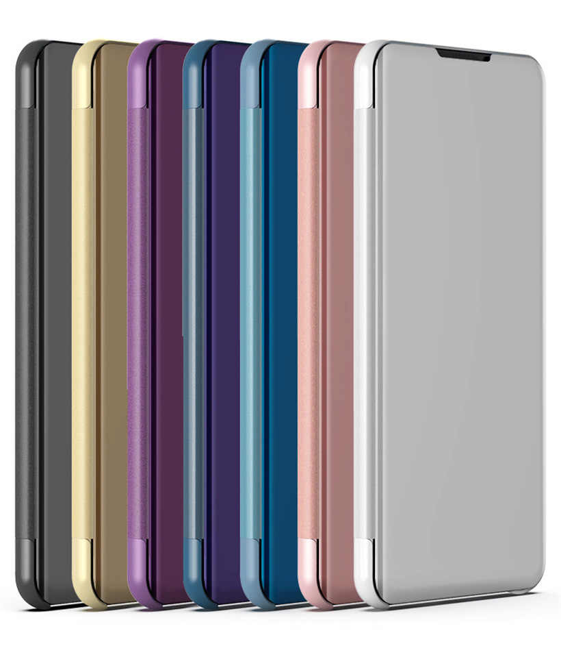 hot sale online 72bde 7b96f Mirror Case For HUAWEI Honor 8x On Honor 8x Max Smart Mirror Clear View  Flip Cover Phone Case For Huawei Honor 8x 6.5