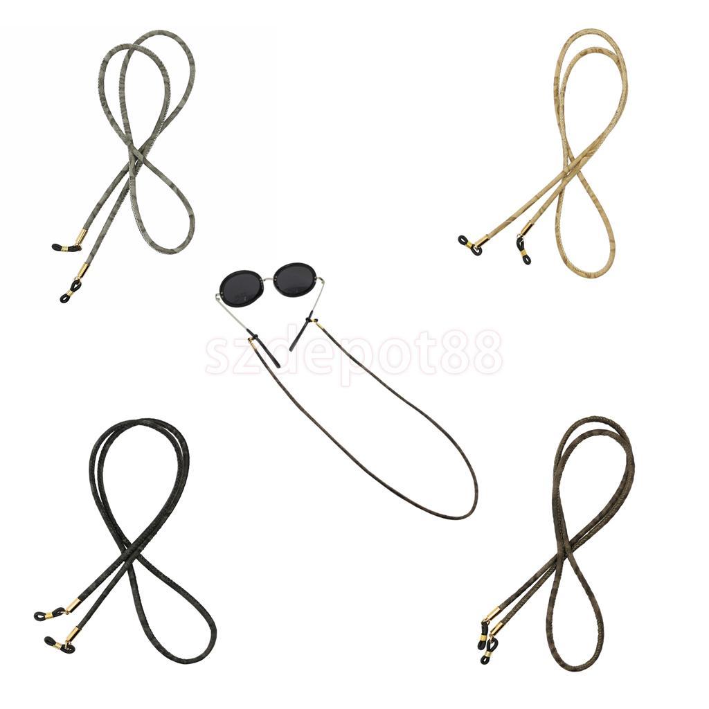 Eyeglasses Chain Sunglasses Rope Anti-slip PU Leather Spectacles String Holder Eyewear Reading Glasses Eyewear Cord
