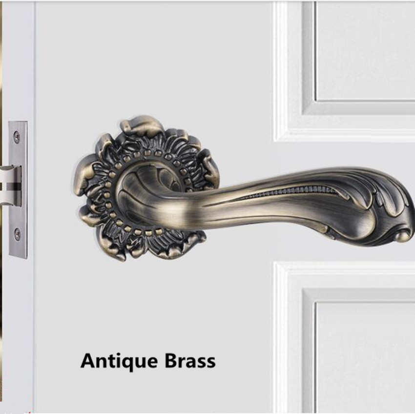 Modern fashion golden Bathroom, aisle wooden door lock ,bronze antique copper retro style WC door locks no key european fashion ivory white bedroon door handles antique bronze mute wooden door lock gold indoor locks modern simple