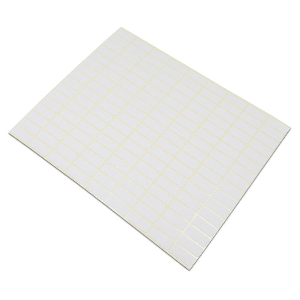 DHL blanc blanc cachetage autocollant beaucoup de différentes tailles carré Design papier Kraft auto-adhésif bricolage cadeau marque Note bureau école