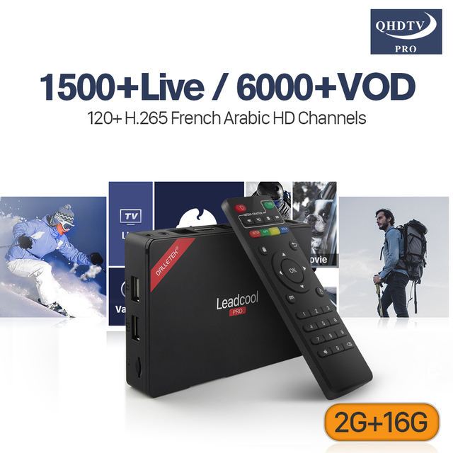 US $97 08 20% OFF|H 265 IPTV Subscription Arabic French Channels 1 Year  QHDTV PRO Code Leadcool Pro Smart Android 6 0 Europe Spain IPTV Box -in