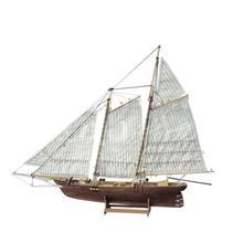 LeadingStar 1:120 DIY montaje de madera barco de vela modelo clásico barco de vela de corte láser Juguetes de rompecabezas