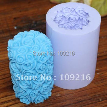 Wholesale new 3d flower pillar lz0088 silicone handmade candle mold crafts diy mold.jpg 350x350
