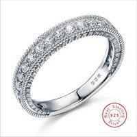 Sterling 925 Silber Hochzeit Band Eternity Ring Schmuck Großhandel Vintage Style Art Deco