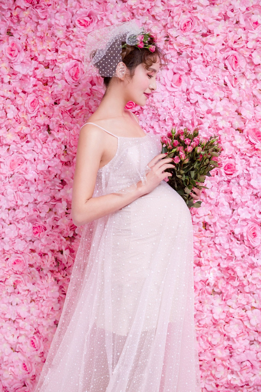 NEW Pregnant Maternity Women Photography Fashion Props White Sleeveless Dress Romatic Fancy Baby Shower Free shipping maternity pregnant women photography fashion props long dress white romatic see through personal portrait nightdress size s l