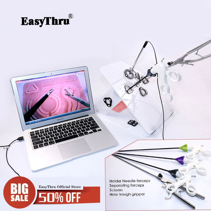 Laparoscopic surgery training set send 4 surgical instruments contain Needle holding forceps Etc Medical teaching equipment
