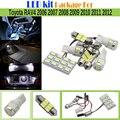 7 Unidades Del Coche 5630 SMD LED Kit Paquete Interior LLEVÓ el Bulbo Blanco de la lámpara Para Toyota RAV4 2006-2012 Auto Mapa Cúpula Trunk Cortesía luz