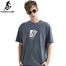 Pioneer Camp 2019 Summer men t shirt Printed Poker Cotton T 3 Color Brand Clothing Casual Male  ADT901150