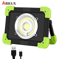 ARILUX 20W Portable Camping Lights 22leds 1500LM LED COB Work Lamp USB Rechargeable 6000Mah Waterproof Floodlight For Outdoor