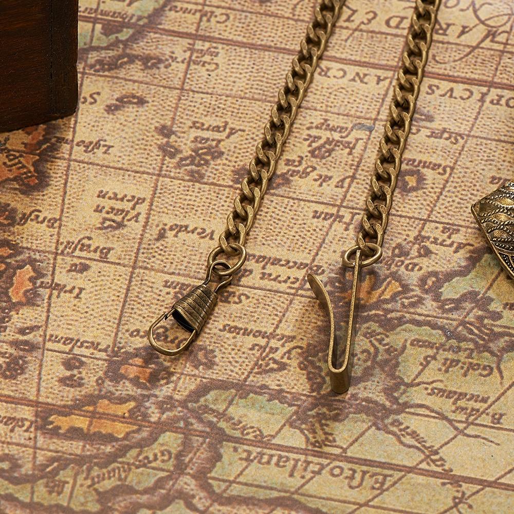 2019 OUYAWEI Stainless steel pocket chain Vintage Silver Black bronze Gold for mechanical Pocket watch & FOB Watch For Gift dispensador de cereal peru