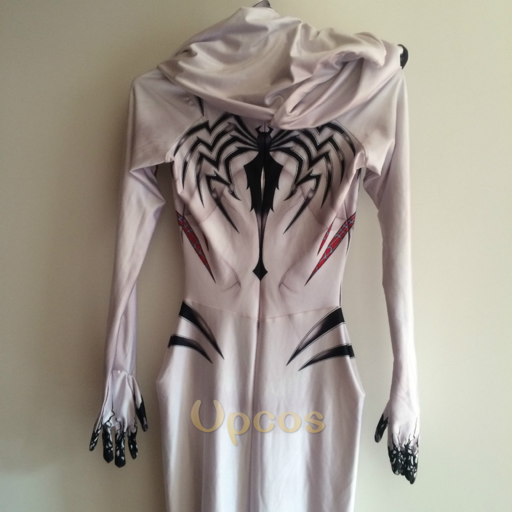 Anti-Gwenom kostym 3D-tryck Gwen Stacy Venom Gwen Kostym Vit Anti - Maskeradkläder och utklädnad - Foto 6