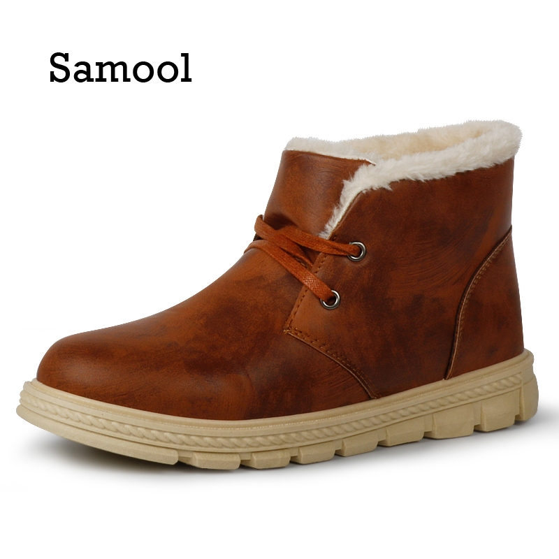 2017 New Arrival Men Winter Boots Snow Boots for Men Ankle Boots Warm with Plush&Fur Work Safety Men Shoes PX5 цена 2017