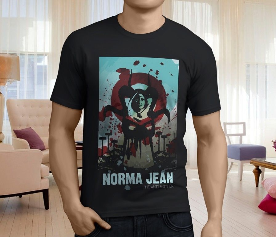 New NORMA JEAN The Anti Mother Metalcore Band Mens Black Short Sleeve T-Shirt Funny Print top tee