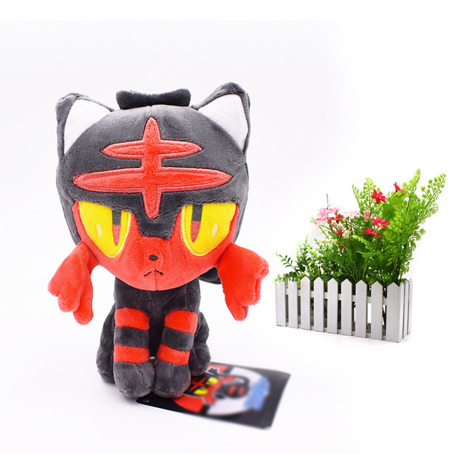 2 Styles  Animal Dolls Litten Evolution Alola Incineroar Solgaleo Lunala SUN/MOON Stuffed Plush Doll Soft  Hot Toys 20 cm-33 cm