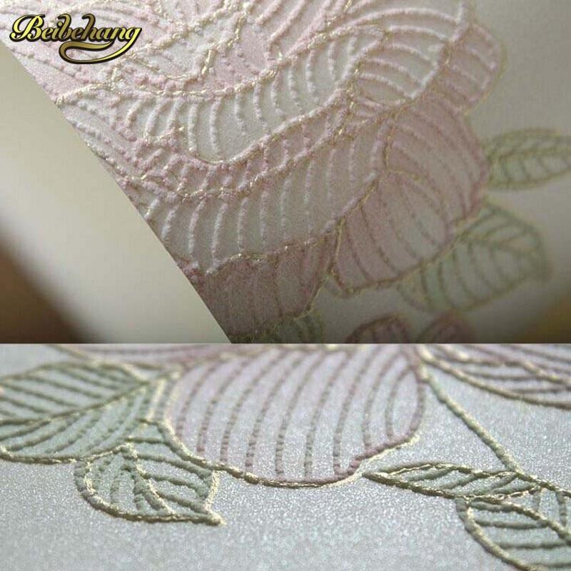 ФОТО beibehang papel de parede. 3D three-dimensional relief of European non-woven wallpaper warm living room bedroom garden wallpaper