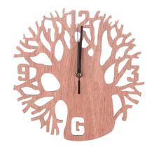 3D настенные часы Дерево Деревянные бесшумные часы для дома кухни офиса