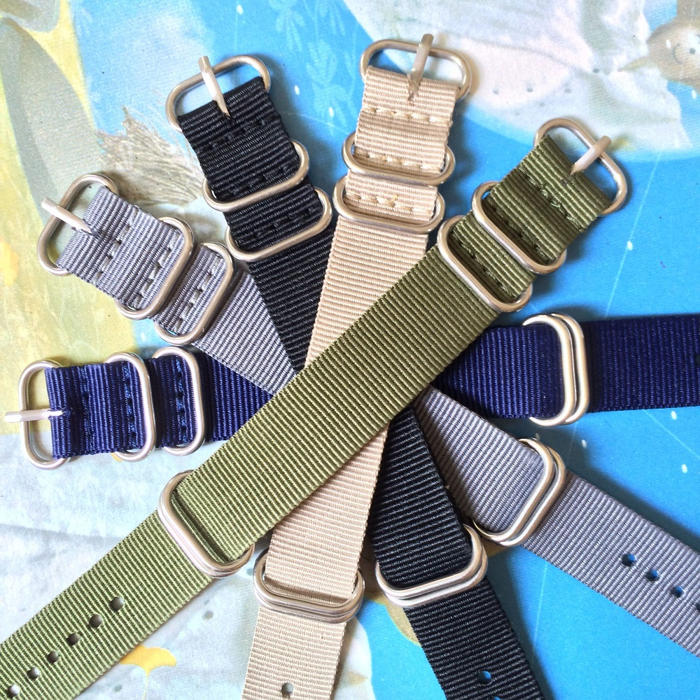 Buy 2 Get 20% OFF) Solid Black Navy Army Green Rings Buckle 16mm Watchband zulu Fiber Woven Nylon Watch Straps Wristwatch Bands special offer wholesale 20mm nylon zulu watch band straps black orange black rings