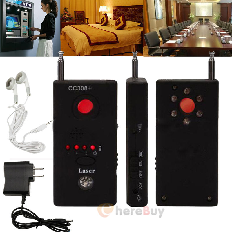 Full Range Anti-Spy Bug Detect RF Signal Detector CC308+Wireless Camera GSM Device Finder FNR Full-frequency Detector wholesale cc308 full range wireless camera gps anti spy bug detect rf signal detector gsm device finder fnr cc308