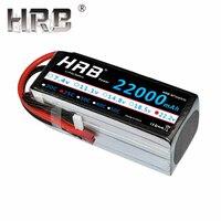 HRB 22000mAh 7.4V Lipo Battery 11.1V 14.8V 18.5V 22.2V 25C T Deans Female 2S 4S 5S 6S 3S RC Helicopter Airplane Skateboard Parts