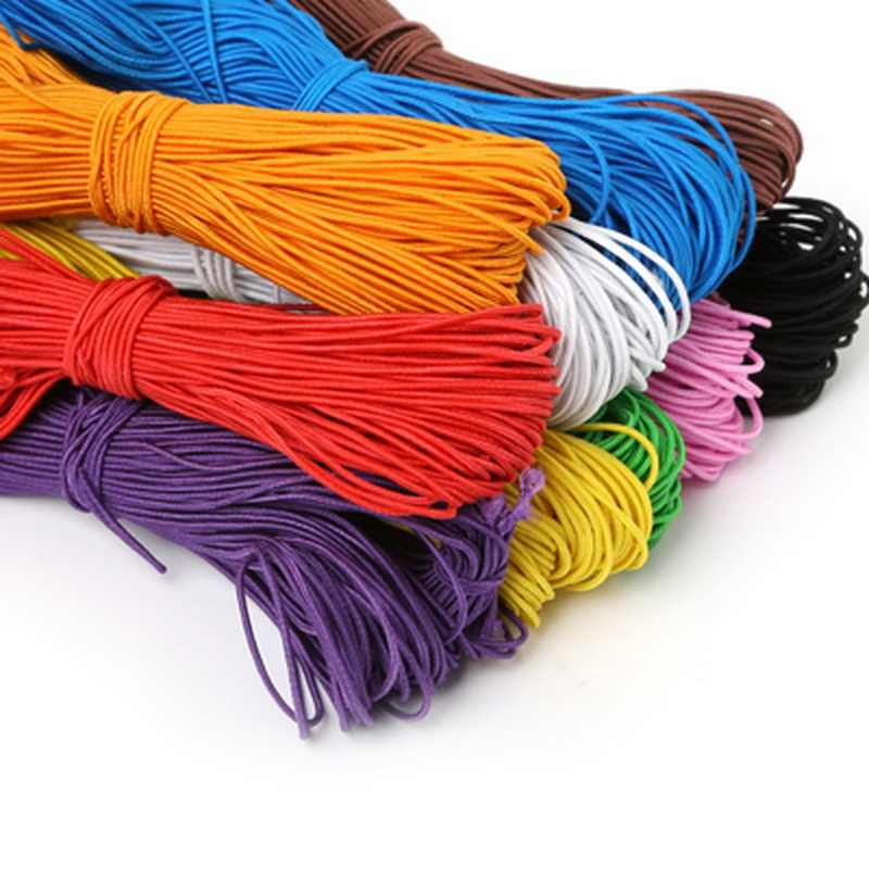 NEW 25meters 1MM Beading elastic Stretch Cord Beads Cord String Strap Rope Bead For DIY Bracelet 10 Colors Choice