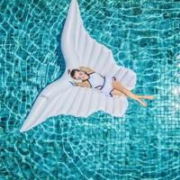 250cm Angel Wing Water Inflatable Float Swimming Pool Accessories Inflatable Raft Ride on Swim Ring Water Hammock Party Fun toy