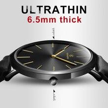 2018 de Moda de Nova KEMANQI Relógios 6.5mm Ultra-fino Relógio dos homens Simples Homens de Negócios Relógios de Quartzo Relógio Masculino relogio masculino