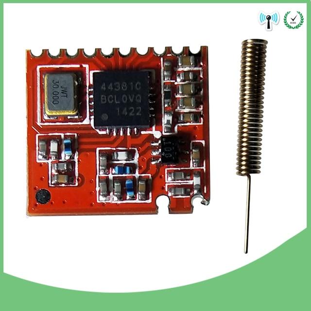 433 MHz RF mô-đun 4438 con chip Dài-Khoảng Cách thông tin liên lạc Máy Thu và Máy Phát SPI IỐT và 433 MHz ăng ten