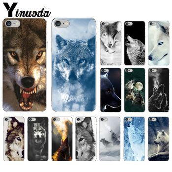 Yinuoda angry snow wolf Smart Cover Transparent Shell Phone Case for Apple iPhone 8 7 6 6S Plus X XS MAX 5 5S SE XR Cellphones image
