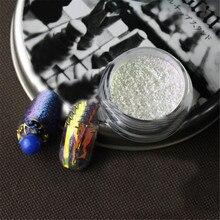 1 Box 2ml Nail Glitters Multi-chrome Nail Powder Dust Chameleon Glitter Powders Set Nail Art Decorations DIY for Nails