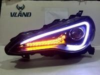 משלוח חינם סין מפעל VLAND רכב האוטומטי וסטיילינג 2012-2016 GT86 FT86 פנס LED פנס HID עם מקרן עדשה