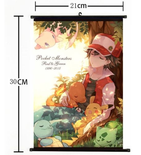 Home Decor Poster Japan Anime game Pokemon Go/ Wall Scroll New