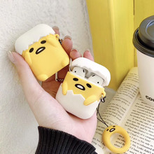 Lovely egg 3D Cartoon for airpods 2 case for Apple Wireless Bluetooth Headphone Protection Cover Silicone soft protective shell