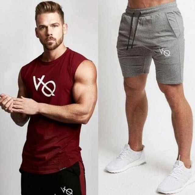 105ad81a588a 2018 New Fashion Summer Short Sets Men Casual Vanquish Printing Suits For Men  Chinese Style Suit Sets Tank Tops and Shorts