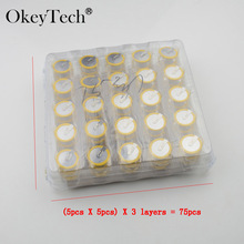 Okeytech 75Pcs High Quality New 3.6V LIR2025 Rechargeable Battery For BMW 3 5 Series E46 E39 Remote Key Battery Free Shipping