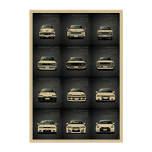 1434 famous roadster/ Performance Car GTR SET 2/kraft paper/ bar poster Wall Stickers/Retro Poster/decorative painting 51x35.5cm(China)