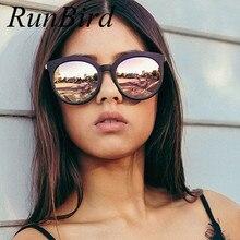 RunBird 2017 New Oversize Cat Eye Sunglasses Women Fashion Summer Style Big Size Frame Mirror Sunglasses Female Oculos UV400 741