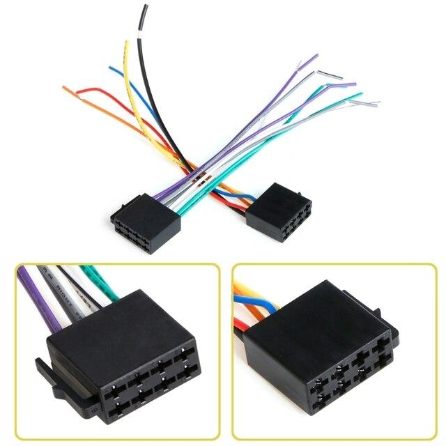 אוניברסלי נקבה ISO לרתום חיווט רכב רדיו מתאם מחבר חוט תקע ערכת
